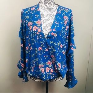 Gorgeous Ruffle sleeve floral shirt